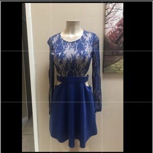Cute royal blue and nude color dress new no tags